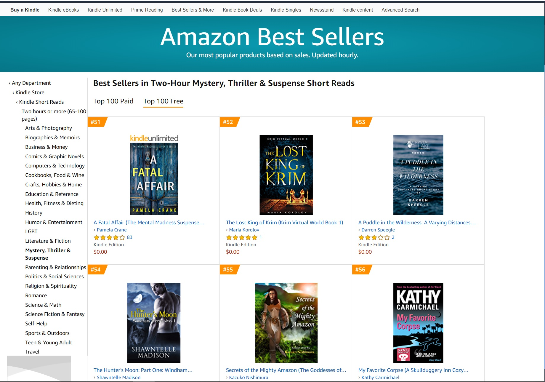 The Lost King of Krim hits multiple Amazon category bestseller lists